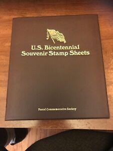 1976 U.S. Bicentennial Souvenir Stamp Sheets: Postal Commemorative Society Album