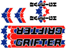 RALEIGH GRIFTER BIKE BICYCLE STICKERS DECALS LABELS TRANSFERS