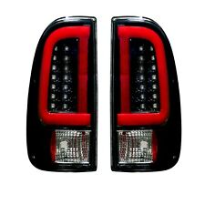 RECON 264293BK Ford Superduty 08-16 F250 350 450 550 Smoked Tail Lights LED