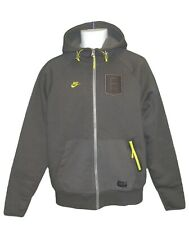 New NIKE NSW FRANCE Football HOODIE JACKET Lined Grey M