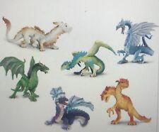 Safari Ltd • Small World • Plastic Dragon Set • 6 Pieces • Early Years