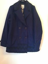 100 Auth ROXY STUNNING & Warm Ladies Navy Jacket With Logo. L