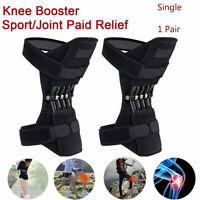 Power Lift Joint Support Knee Brace Pad Rebound Spring Force Running Leg Band UK
