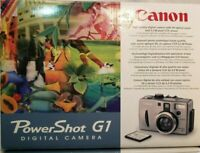 CANON POWERSHOT G1 3.3MP DIGITAL CAMERA 3X OPTICAL ZOOM w/BOX CD CORDS ETC