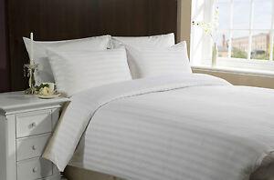 3 Pieces 400 thread 1 cm stripes 5 Star Hotel Queen Size Duvet Doona Cover Set