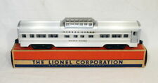 Postwar Lionel 2532 Silver Range Vista Dome Car~Late Flat Channels~w/Nice OB