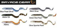 6 Savage Gear 3D Real Eel Gummifische Aal 20cm, Kunstköder zum Spinnfischen