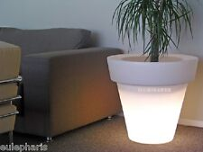 Lampara MACETERO luminoso 80x75cm 56,6L Maceta Iluminada Luz Jardin bajo consumo