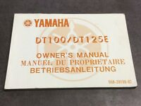 Genuine Yamaha DT100 DT125E owners manual handbook 558-28199-82