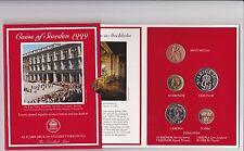 KMS Schweden 1999, Sweden  Coins, Kursmünzensatz Coins of Sweden 1999