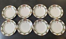 8 Royal Copenhagen Star Fluted Christmas Porcelain Desert / Salad Plates New!