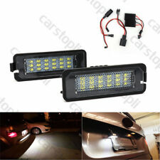2x 18 LED License Plate Light White Canbus for VW Golf Scirocco Polo Passat EOS