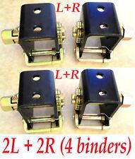 "4x 2"" Tow Dolly Lashing Winch Tie Down Ratchet Binder Truck Rack Strap (2L + 2R)"