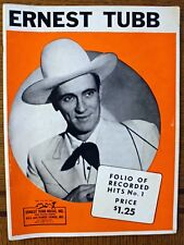 Rare Ernest Tubb Song Book - Folio Of Recorded Hits No. 1