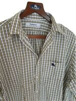 Mens chic BURBERRYS long sleeve shirt size large. Immaculate. RRP £195.
