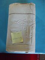 Ancien Drap Lin tissus d'ameublement Vintage JL : 280 x 215 cm poids 1528 gr.