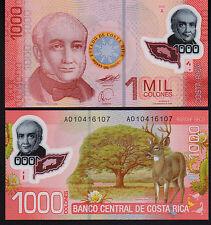 Costa Rica 1000 colones 2009 P274 Mint Unc Polímero