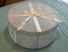 Vintage Hat Box, Fabric And Metal