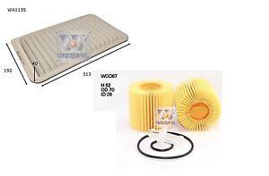 OIL & AIR FILTER KIT for TOYOTA KLUGER 3.5L V6 GSU40 GSU45 SERIES 07/2007-ON