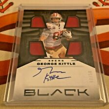 GEORGE KITTLE 🔥 2020 Black Capstone Quad Patch Relic On Card AUTO #d 47/50