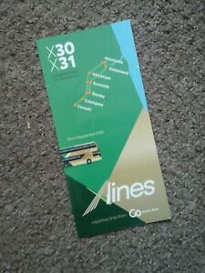 Go north east x lines bus timetable x30 x31 2020