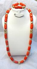 Long Traditional African Nigerian Real Bling Coral Party Wedding Jewellery Set