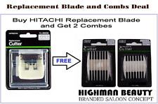 Hitachi CL8800K Hair Clipper-Trimmer Replacement Blade Plus Two combs deal JAPAN