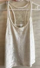 Top Abercrombie blanc, Taille S
