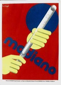 Original vintage poster print MODIANO CIGARETTES c.1930 Bortnyik