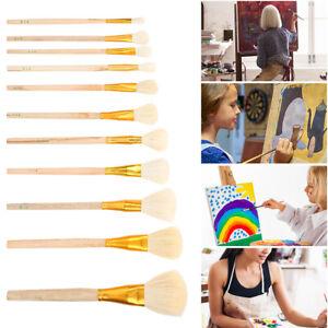 11PCS Artist Professional Soft Paint Brush Set Oil Acrylic Watercolour  Supplies