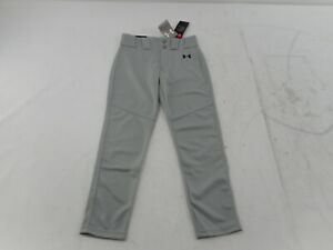 Under Armour Boys' Utility Relaxed Baseball Pants, Gray (080)/Black, Small