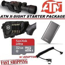 ATN X-Sight Starter Kit Micro SD External Battery, Stock Pouch, SD & Coil Cord