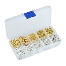 3/4/6mm Gold/Silver Plated Round Brass Spacer Beads Ball End Seed Jewelry Making