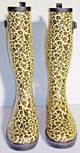 Animal Print Unbranded Tall Boots Size S5/6 NWOB