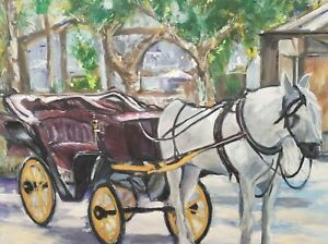 Limited edition prints - Horse & Carriage La Plaza de Espana Seville available