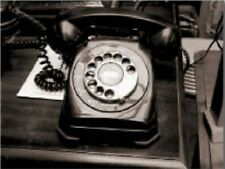 "*Postcard-""Classic Rotary Telephone"" ...on Office Desk /Picture/ (C1)"