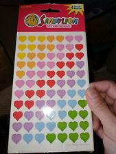 Vintage Stickers SANDYLION Rainbow Hearts Maxi Sheets New in Package 4 sheets
