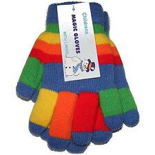 da bambino per Unisex Multicolore MAGICI Stretch Guanti - Blu