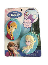 Disney Frozen Anna & Elsa Boca Beach Towel Clips Set