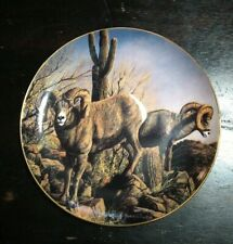 "Plate ""The Grand Slam"",Trevor Swanson,The Danbury Mint Lmtd Edition desert Rams"