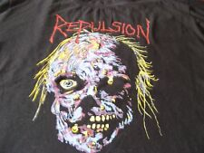 REPULSION RARE VINTAGE LONG SLEEVE TEE SHIRT RELAPSE RECORDS PROMO BOLT THROWER