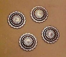 Traditional 1:9 Scale Model Horse Conchos / Breast Collar Centers - SILVER-TONED