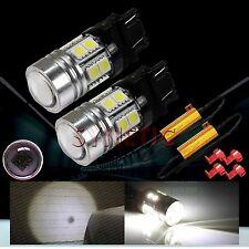 2x 3157 High Power CREE Q5 White Turn Signal Blinker LED Light Bulbs+2 Resistors