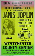 "Janis Joplin Concert Poster - 1968 w/ Big Brother and the Holding Co. - 14""x22"""