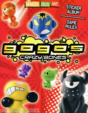 GOGOS CRAZY BONES SERIES 1 STICKER ALBUM GAME RULES HANDBOOK GUIDE BOOK NEW