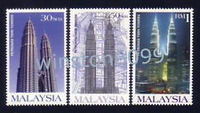 1999 Malaysia Petronas Twin Towers Building KLCC 3v Stamps Mint NH