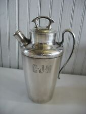 Vintage Art Deco WILCOX SILVERPLATE COCKTAIL Barware PITCHER  MONO CJW