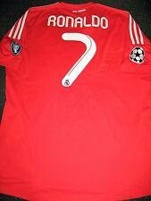 Authentic Ronaldo Real Madrid UEFA CL Jersey 2011 2012 Red Camiseta Shirt XL