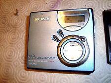 Sony net md walkman MZ-N510 type-s portable mini disc player recorder +3 disques