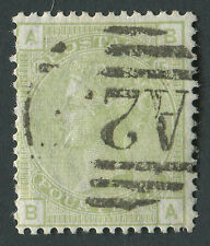 GB used in Malta Z51 4d Sage-Green BA with part A25 cancel